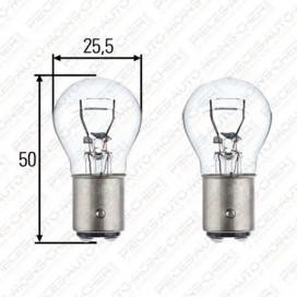 LAMPE P21/5W (24V 21/5W) LOT x2