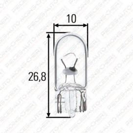 LAMPE W10/3 (12V 5W R10)
