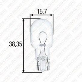 LAMPE W16W (12V 16W W2.1X1.9D)