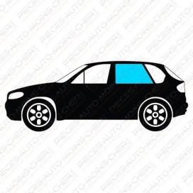VITRE DE PORTE ARRIERE GAUCHE VERT + 1 TROU BMW 3