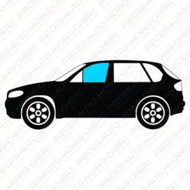 VITRE DE PORTE AVANT GAUCHE VERTE + 2 TROUS BMW S