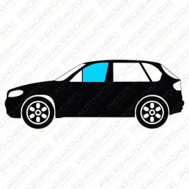 VITRE DE PORTE AVANT DROIT VERT VWC PASSAT III (0