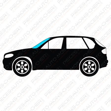 PARE-BRISE VERT BANDEAU BLEU + EMBASE VW
