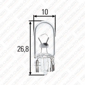 LAMPE W10/3 (24V 3W R10)