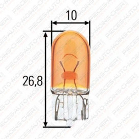 LAMPE WY5W (12V 5W) LOT x2