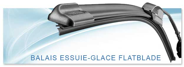 Balais d'essuie-glace technologie Flatblade