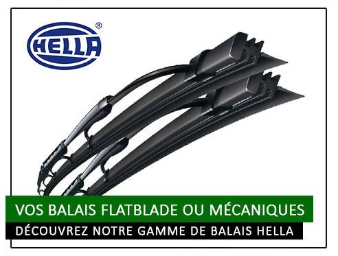 Balais d'essuie glace Flatblade/Dynablade et mécanique